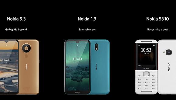 诺基亚首款5G智能手机Nokia 8.3发布 复刻功能机Nokia 5310